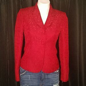 EUC Tahari Red blazer size 2P
